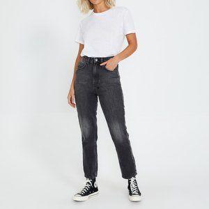 KSUBI Chlo Hi Wasted Throwblack Crop Denim Jeans